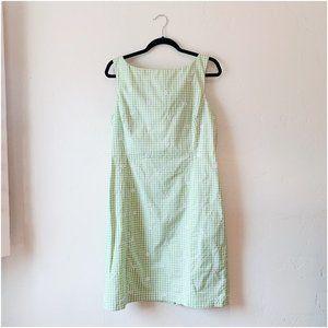 vintage gingham sleeveless dress, size 12